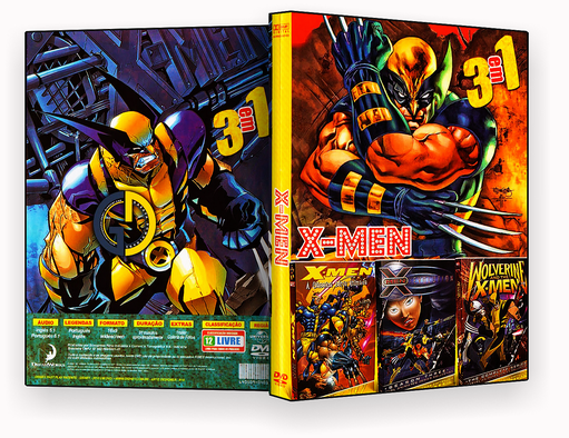 Coleção – X-Men Em Desenho – 3 em 1 – ISO