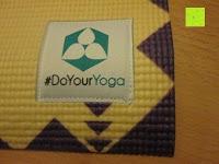 """Logo: Yogamatte """"Ravana"""" Die ideale Yoga- und Gymnastikmatte für Yoga-Einsteiger. Maße: 183 x 61 x 0,4cm / Tribal Center"""