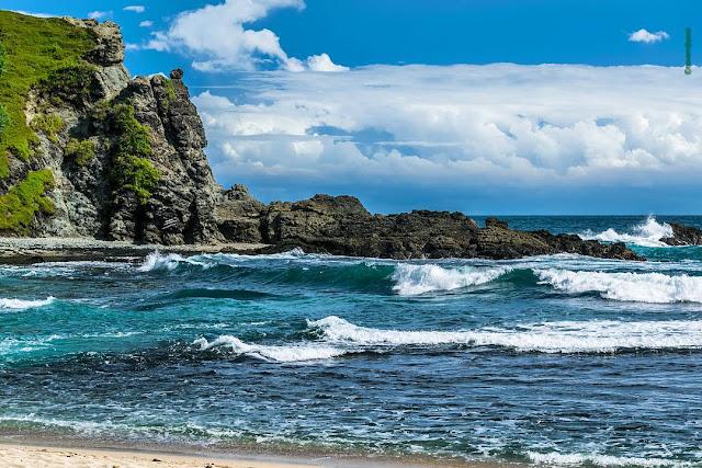foto keindahan laut pantai siung jogja