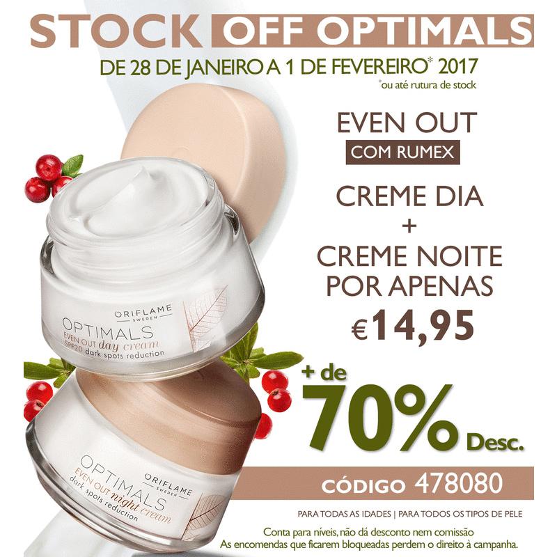 Campanha Stock Off Optimals da Oriflame