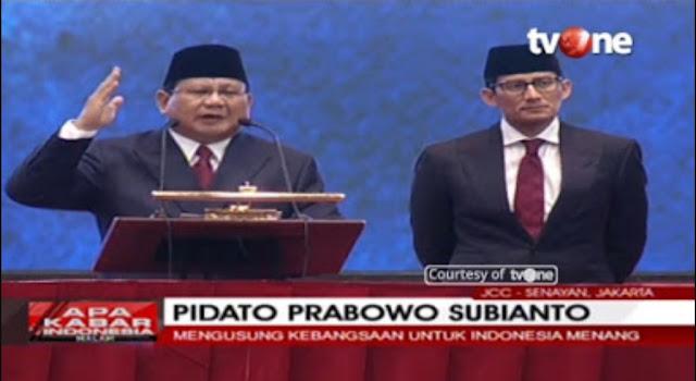 Pengamat: Prabowo Pidato Teriak-Teriak, Elektabilitas Stagnan Mangkrak