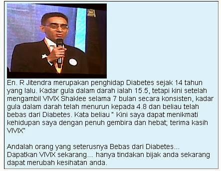Testimoni vivix diabetis