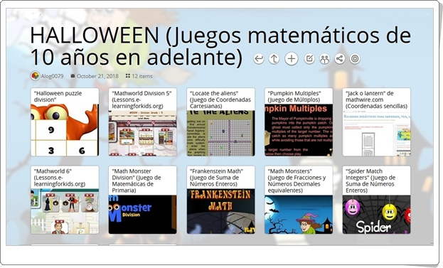 12 juegos de Matemáticas sobre HALLOWEEN de 10 años en adelante