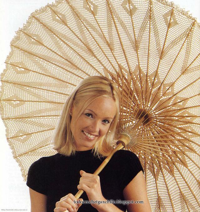 Sombrilla paraguas parasol tejido con ganchillo paso a paso tutorial