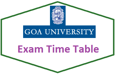 Goa University Time Table April May 2020