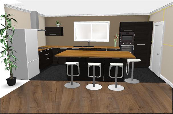Maison la campagne simulation cuisine - Simulation plan cuisine ...