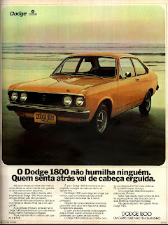 propaganda Dodge 1800 - 1973, brazilian advertising cars in the 70s; os anos 70; história da década de 70; Brazil in the 70s; propaganda carros anos 70; Oswaldo Hernandez;