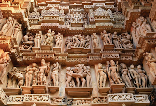 Patung Kuil Konark Sun, India