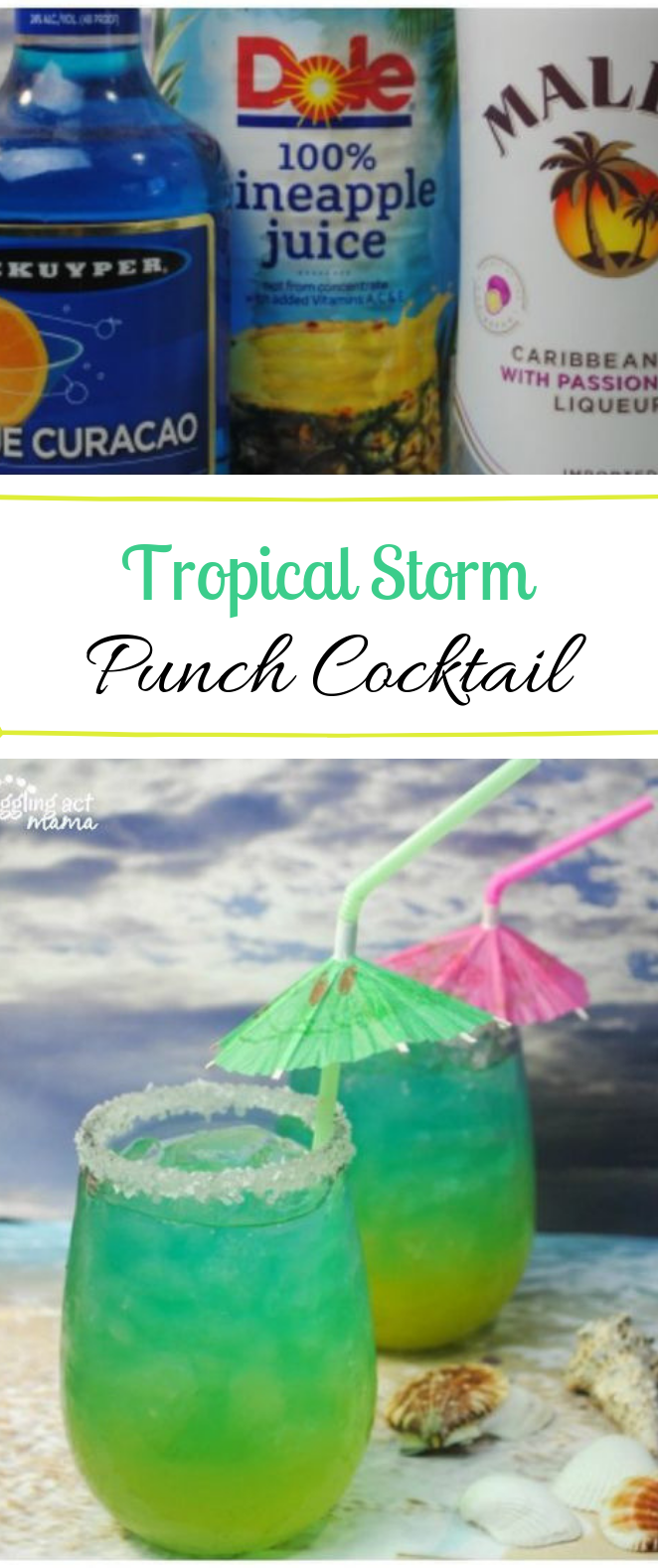 Tropical Storm Punch Cocktail #punch #cocktail