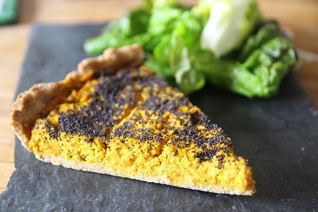 Tarte carottes-curry-pavot