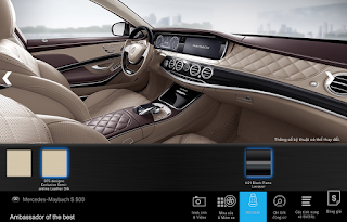 Nội thất Mercedes Maybach S560 4MATIC 2019 màu Vàng Silk 975