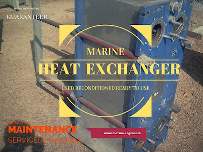 PHE, plate heat exchanger, used, reconditioned, marine, cooling