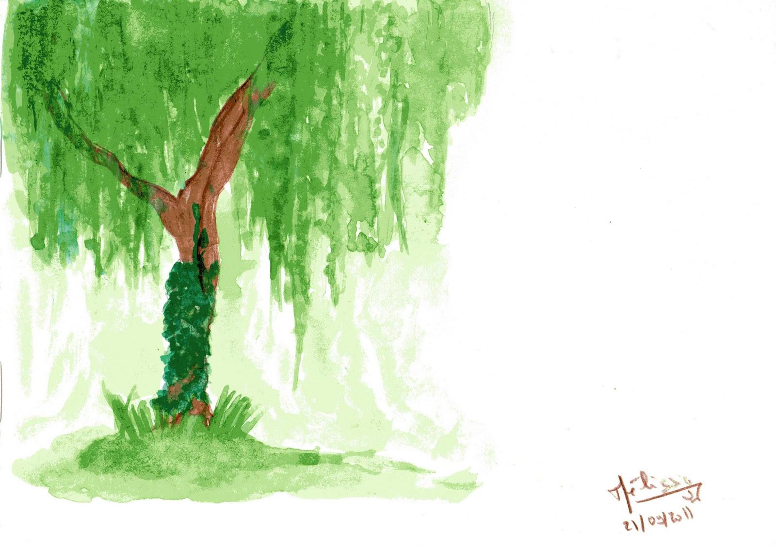 mélissia's art: un croquis parmi tant d'autres : un autre arbre