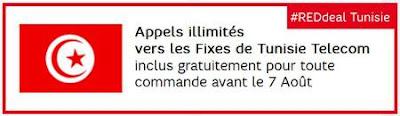 Box SFR RED inclut les Appels illimités vers les fixes de Tunisie Telecom