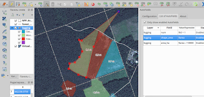 autofields qgis -  AutoFields - edit polygon