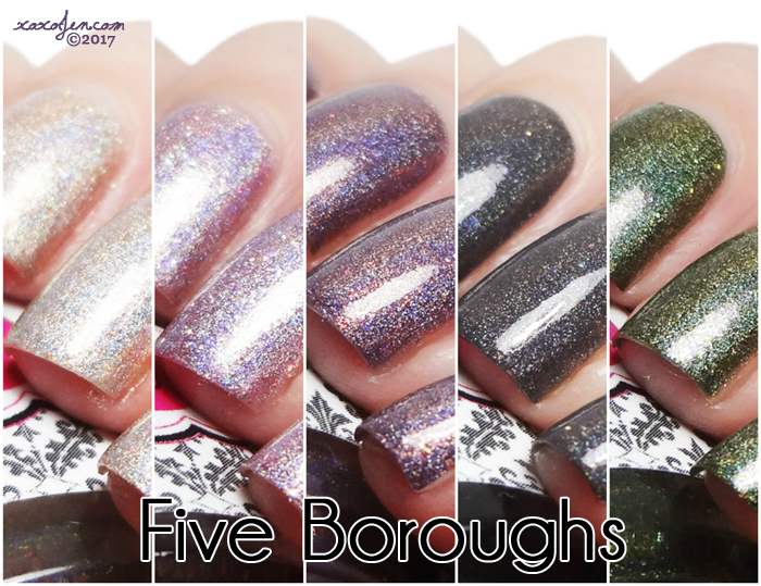 xoxoJen's swatch of Glisten & Glow The 5 Boroughs Collection