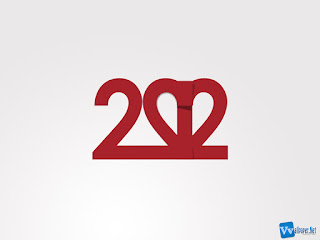 Simple 2012 Text Number Wallpaper