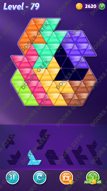 Block! Triangle Puzzle 8 Mania Level 79 Solution, Cheats, Walkthrough for Android, iPhone, iPad and iPod