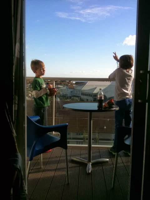 Butlins Wave Hotel kids's balcony