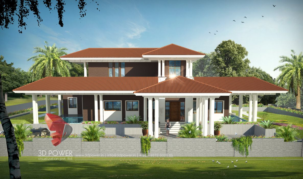 Ultra modern home designs home designs construction for Indian bungalow design