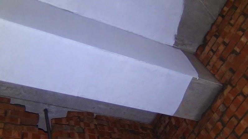 秘密基地: 103.04.27-屋內試刷水泥漆