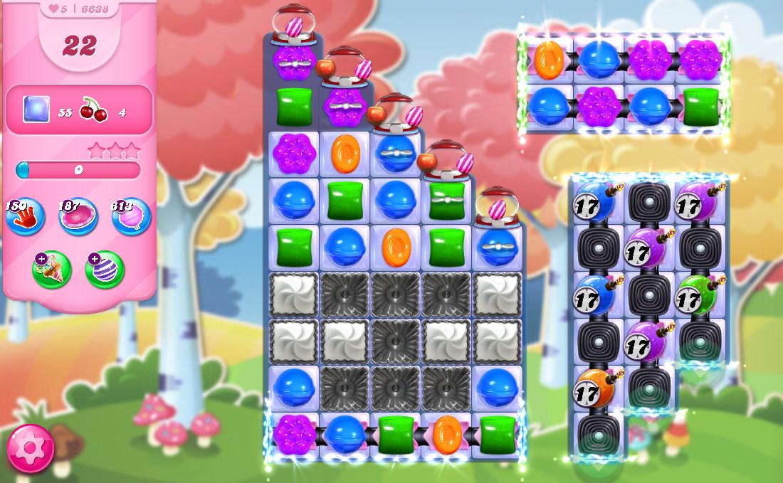 Candy Crush Saga level 6638