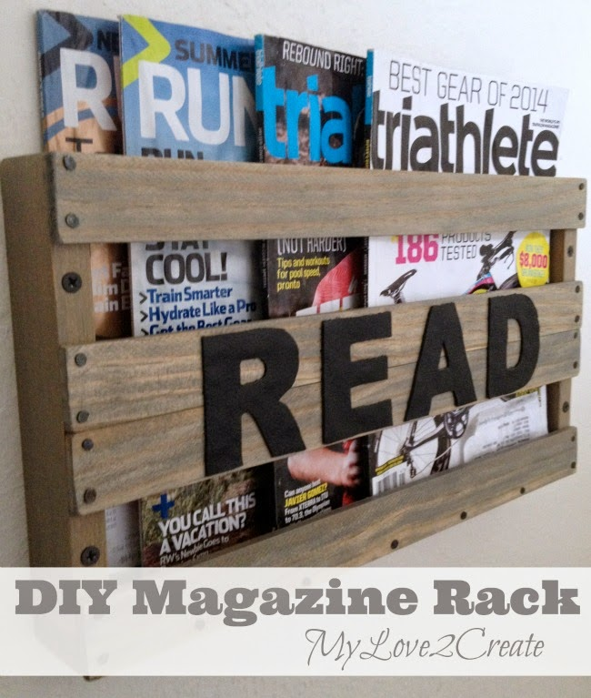DIY Magazine Rack, shared by My Love 2 Create