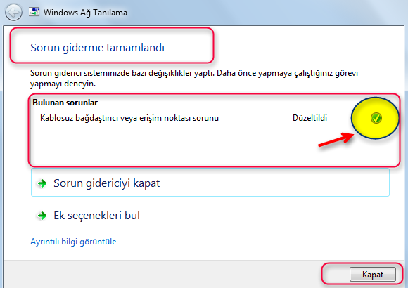 Windows Ağ Tanılama