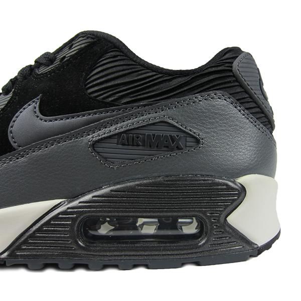 99f3901e8c Nike Womens Air Max 90 Leather. Black, Dark Grey, Sail, Metallic Hematite.  768887-001