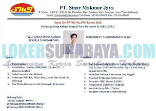 Lowongan Kerja di PT. Sinar Makmur Jaya Surabaya Oktober 2018