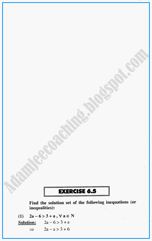Adamjee Coaching: Algebraic Sentences - Exercise 6 5