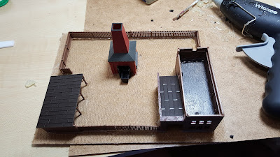 The Brick Works, I made this up using a Heljan N gauge kit and a kiln I managed to buy from eBay.