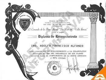 adolfo alfonzo aaet diploma de reconocimiento bavalle grupo 13 leones