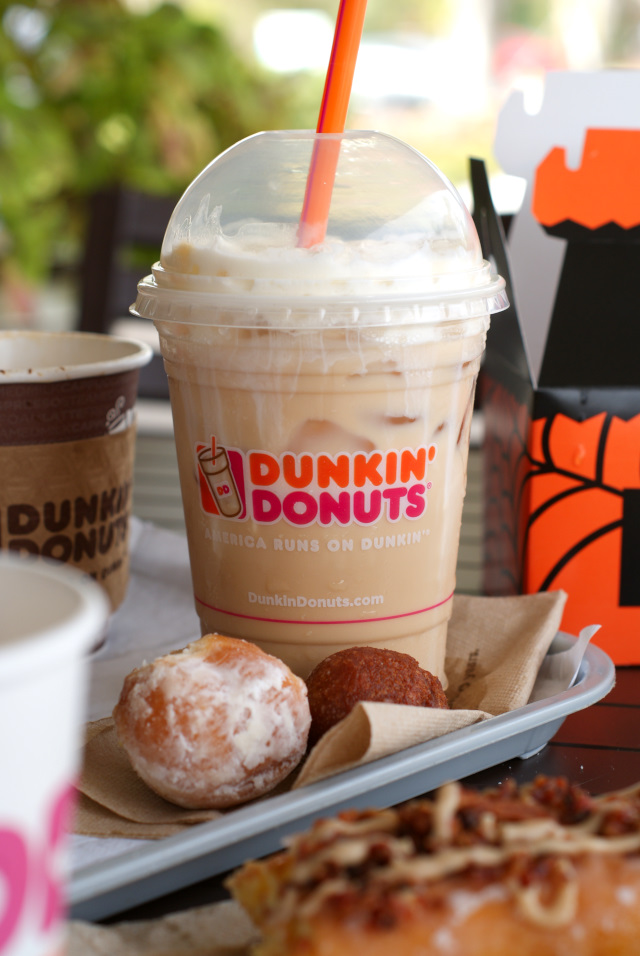Salted Caramel flavored coffee, lattes, and macchiatos are new at Dunkin' Donuts!  They are the perfect combination of sweet and salty and perfect for the Fall season. #sponsored