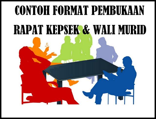 Download Contoh Format Pembukaan Rapat KEPSEK Dengan Wali Murid