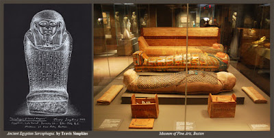 Egyptian Sarcophagus of General Kheperra. Museum of Fine Arts, Boston. by Travis Simpkins