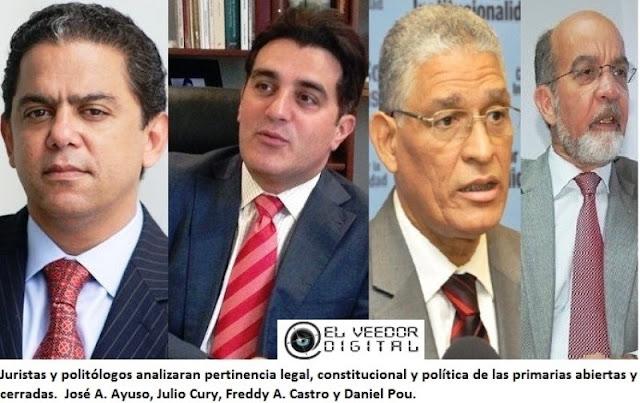 Juristas y politólogos analizaran la pertinencia constitucional, legal y política de las primarias abiertas y cerradas
