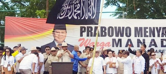 Bendera HTI Berkibar di Kampanye 02, TKN Pertanyakan Sikap Prabowo