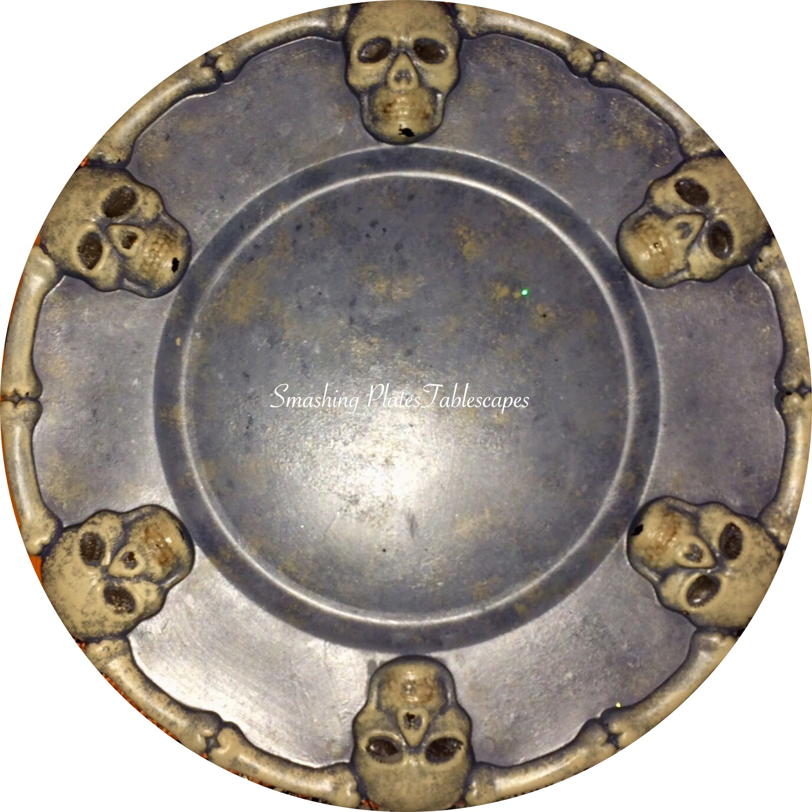 The orange dinner plate is also from Dollar Tree. The black cat plates were purchased at HomeGoods this season. They are manufactured by 222 Fifth and the ...  sc 1 st  Smashing Plates Tablescapes - Blogger & Smashing Plates Tablescapes: Spooky Halloween Dinner Guest