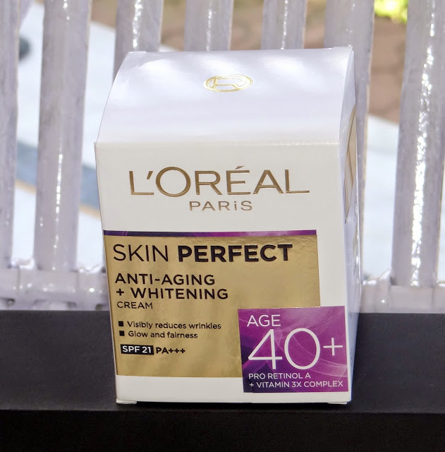 L'Oreal Paris Skin Perfect Anti-Aging + Whitening Cream For Age 40+ Review and price