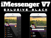 BBM iMESSENGER V7 SERIES EXCLUSIVE BLACK Theme V3.0.1.25 Versi Terbaru Gratis Download 2016