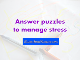 Answer puzzles to manage stress