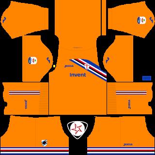 UC Sampdoria 2018 - 2019 GK Away Kit
