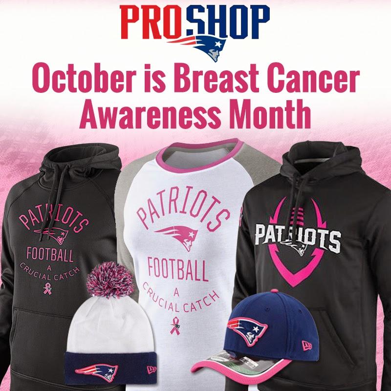 370bcdb1 Patriots ProShop Blog: October is Breast Cancer Awareness Month