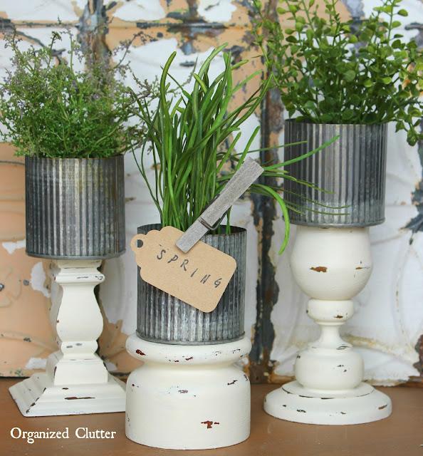 Candleholder DIY Planters