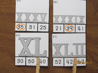 Clip It Roman Numerals Task Cards