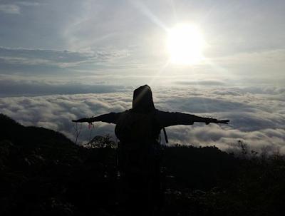 Sunrise gunung hauk, Pemandangan Gunung Hauk