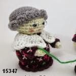 patron gratis muñeca anciana  amigurumi, free pattern amigurumi old woman doll