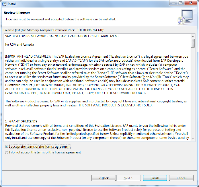 SAP evaluation license agreement