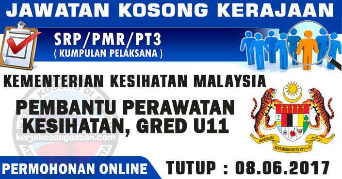 Jawatan Kosong Kesihatan Pembantu Perawatan Kesihatan U11 Jawatan Kosong Terkini Negeri Sabah